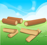 Wooden Logs  Isolated  objects Royalty Free Stock Photography
