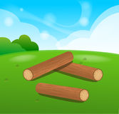 Wooden Logs  Isolated  objects Royalty Free Stock Photos