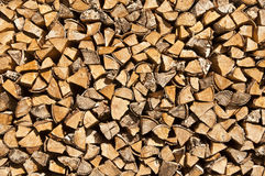 Wooden logs. Ready for fireplace royalty free stock photo
