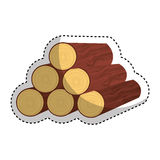 Wooden logs resource icon. Illustration design Stock Images