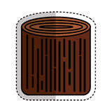 Wooden logs resource icon. Vector illustration design Stock Photo