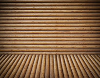 Wooden logs room background Stock Images