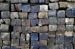 Wooden logs sleepers Stock Photos
