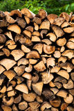 Wooden logs storage background Royalty Free Stock Image