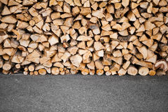 Wooden logs storage Royalty Free Stock Photo