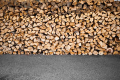 Wooden logs storage Royalty Free Stock Photography