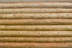 Wooden logs. Texture of brown wooden logs Stock Photo