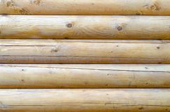 Wooden logs texture Royalty Free Stock Images