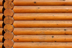 Wooden Logs Wall Background Stock Image