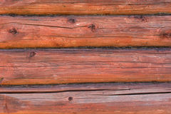 Wooden logs wall background Royalty Free Stock Image