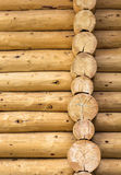 Wooden logs wall background Royalty Free Stock Photo