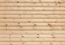Wooden logs wall background texture Stock Photos