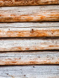 Wooden logs wall of rural house as background Royalty Free Stock Photos