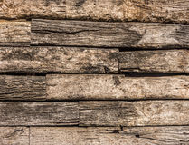 Wooden logs wall Royalty Free Stock Images