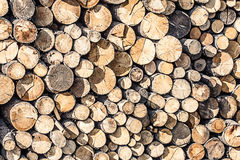 Wooden logs Royalty Free Stock Photography
