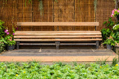 Wooden long bench Royalty Free Stock Photos