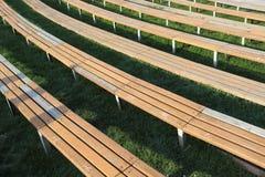 Wooden Long Seats Stock Photos