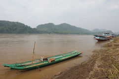 Landscape at Mekong river, Laos. Royalty Free Stock Photos