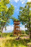 Wooden look-out tower Royalty Free Stock Photo