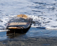 Wooden looking surfboard Stock Photography