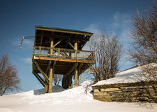 Wooden lookout Royalty Free Stock Photography