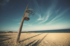 Wooden lookout tower at a beach Royalty Free Stock Photography