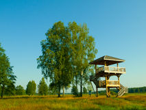 Wooden lookout tower Stock Photo