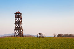 Wooden lookout tower Royalty Free Stock Photo