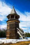 Wooden lookout tower Royalty Free Stock Images