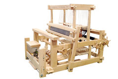 Wooden loom isolated Royalty Free Stock Photography