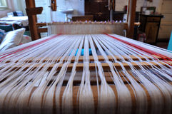 Wooden loom with strings Stock Photography