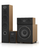 Wooden loudspeaker Royalty Free Stock Images