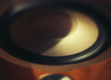 Wooden loudspeaker hi-fi Stock Photo