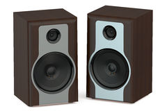 Wooden loudspeakers Stock Photography