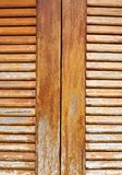Wooden louver windows background Royalty Free Stock Image