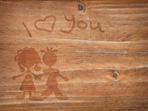 Wooden love Stock Photos