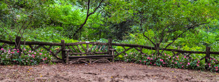Wooden Love Bench in Central Park - Manhattan, NY. Wooden Love Bench in Central Park - Manhattan, New York stock photos