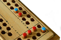 Wooden Ludo game board Royalty Free Stock Photo