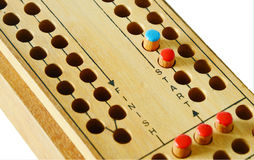 Wooden Ludo game board Royalty Free Stock Image