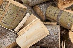 Wooden lumber Stock Photo