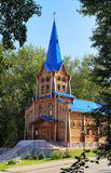 Wooden lutheran church in Tomsk, Russia Royalty Free Stock Images