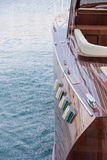 Wooden luxury boat Royalty Free Stock Photos
