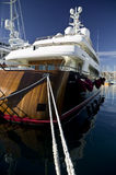 Wooden luxury yacht Stock Photography