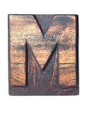 Wooden M typeface Royalty Free Stock Photos