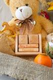 Wooden made calendar Stock Images