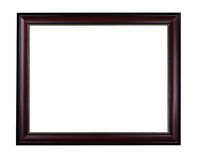 Wooden mahogany picture frame Royalty Free Stock Images