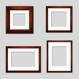 Wooden mahogany picture frames. Illustration for the web Stock Photography
