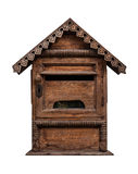 Wooden Mail Box. On White Background,thailand style Stock Photos