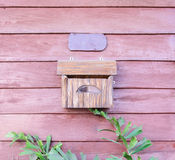 Wooden mail box Stock Photo