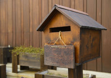 Wooden mail box Royalty Free Stock Photography